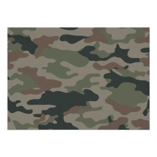 Camuflagem do exército no verde e nas forças armad convite personalizado