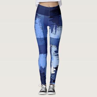 Camuflagem marinha azul do abstrato das forças legging