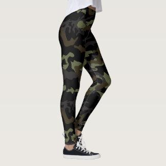 Camuflagem surpreendente legging impresso
