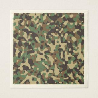 Camuflagem verde da floresta de Brown. Camo seu Guardanapo De Papel