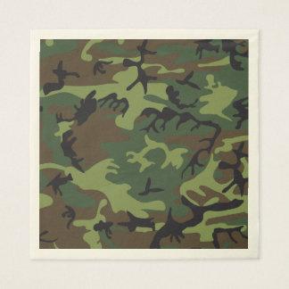 Camuflagem verde de Brown. Camo seu Guardanapo De Papel