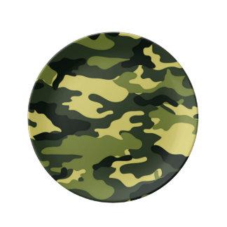 Camuflagem verde louça de jantar