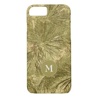camuflagem verde rústica dos ramos com monograma capa iPhone 8/ 7