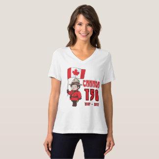 Canadá 150 anos de aniversário camiseta