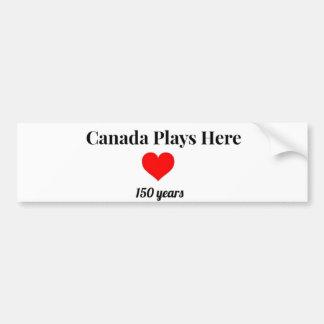 Canadá 150 em 2017 Canadá joga aqui Adesivo De Para-choque
