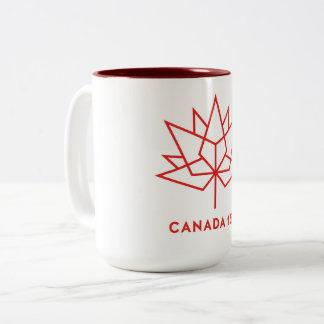 Canadá 150th marrom da caneca de café de dois tons