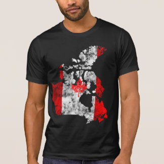 Canadá afligiu a camisa t-shirts