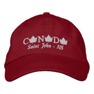 Canadá bordou o boné vermelho da bola - St John -