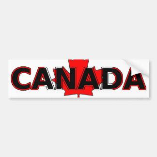 Canadá com autocolante no vidro traseiro da folha adesivo para carro