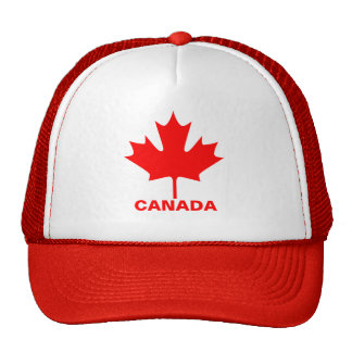 Canadá - folha de bordo - chapéu boné