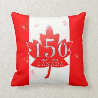 Canadá folha de bordo de uma celebração de 150 almofada