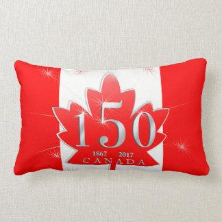 Canadá folha de bordo de uma celebração de 150 almofada lombar