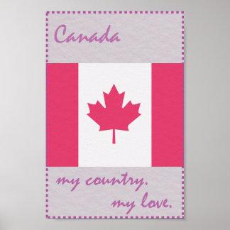 Canadá meu país meu amor pôster