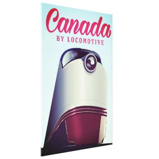 Canadá pelo poster locomotivo do trem dos anos 50 impressão em tela