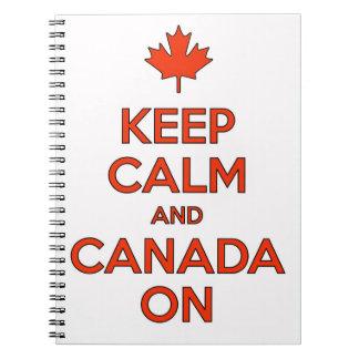 Canadá sobre & mantem o caderno dos moluscos