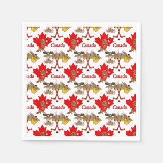 Canadense da folha de bordo guardanapo de papel
