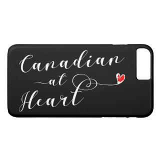 Canadense na capa de telefone do móbil do coração