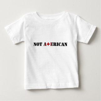 Canadense nao americano camiseta