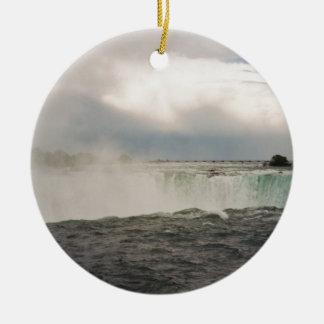 Canadense Niagara Falls Ornamento De Cerâmica Redondo