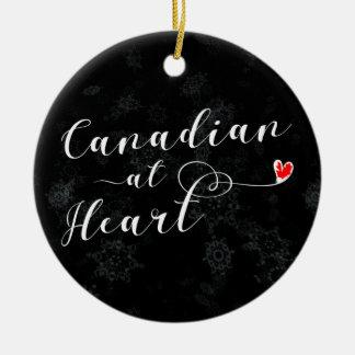 Canadense no coração, ornamento da árvore de Natal
