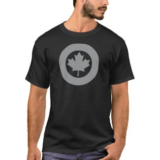 Canadian Air Force roundel/emblem black t-shirt