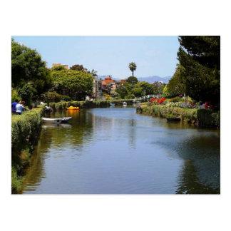 Canais da praia de Veneza, cartão de Los Angeles