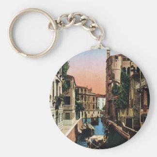 Canais de Veneza, imagem do vintage Chaveiro