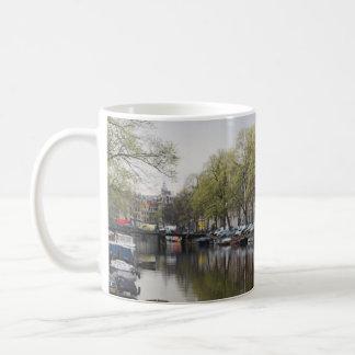 Canais em Amsterdão, Holland Caneca De Café