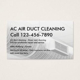 Canal de ar que limpa cartões de Bsiness