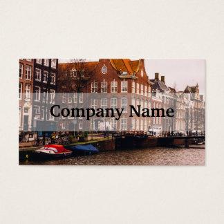 Canal e arquitetura de Amsterdão Cartão De Visitas