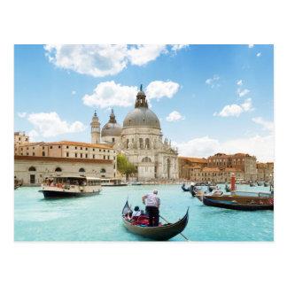 Canal grande, cartão de Veneza