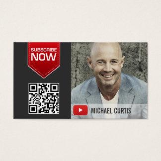 Canal moderno de YouTuber | YouTube Cartão De Visitas