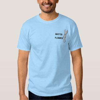 Canalizador mestre camisa bordada