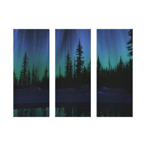 """""""Canção canvas do Triptych do céu"""" Impressão De Canvas Esticadas"""