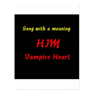 Canção com um significado (exemplo) cartão postal