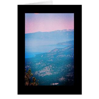 Canção da névoa de Lake Tahoe do solenóide. Cartão