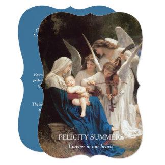 Canção da Virgem Maria de cartões de Convite 12.7 X 17.78cm