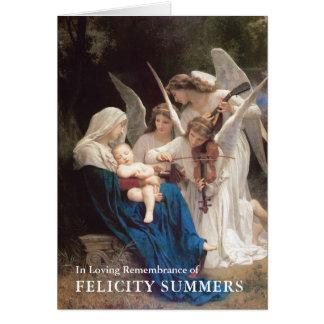Canção da Virgem Maria do cartão de nota da