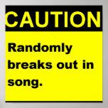 Canção de Randmon Posters