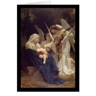 Canção do cartão de Natal dos anjos
