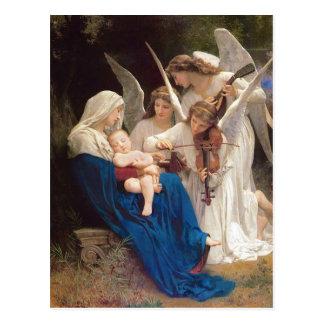 Canção do Natal dos anjos Cartão Postal