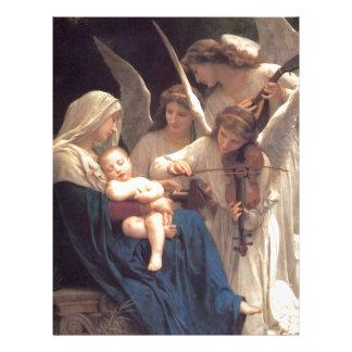 Canção dos anjos - William-Adolphe Bouguereau Papel Timbrado