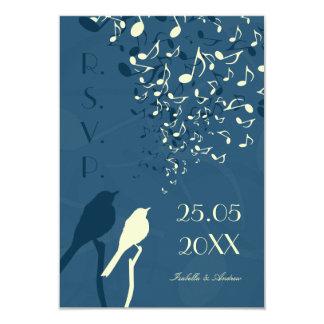 Canção dos pássaros do amor - RSVP Convite 8.89 X 12.7cm