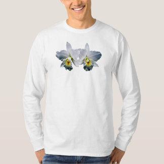Canção havaiana do casamento da orquídea branca camisetas