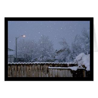 Canção nevado da noite do solenóide. Cartão do