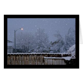 Canção nevado da noite do solenóide. Cartão do 5:2