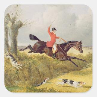 Cancelando uma vala, 1839 (óleo no painel) adesivos quadrados