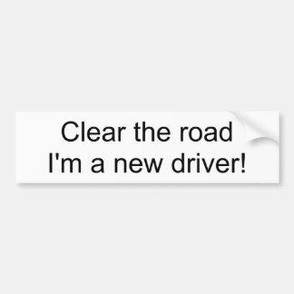 Cancele a estrada que eu sou um motorista novo! adesivo para carro