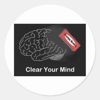 Cancele sua mente adesivo