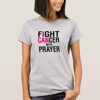 Cancer da luta com camisa da oração